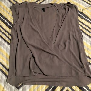 Maurice's Taupe cross over tank